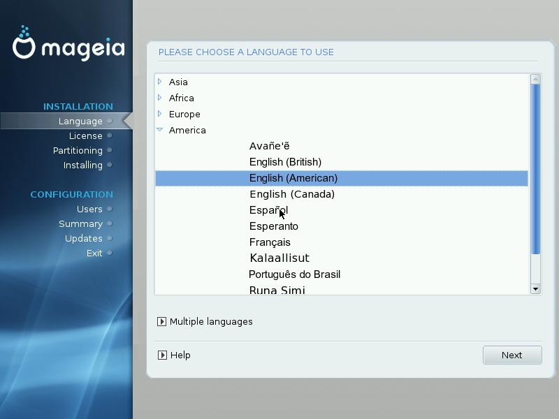 2. Please choose a language to use 96b678351