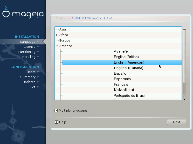 ... then you should use the Multiple languages button to add them now. It  will be difficult to add extra language support after installation. 843d7b387