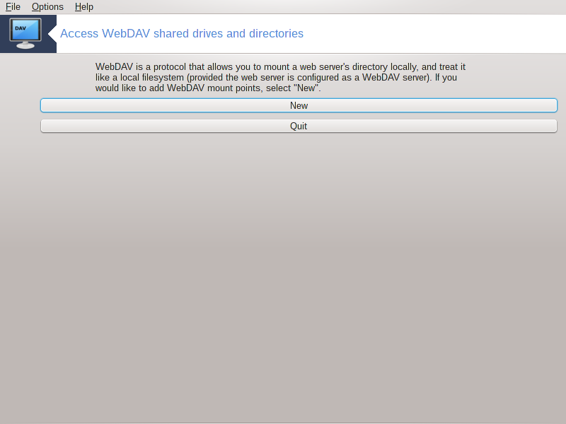 Access WebDAV shared drives and directories