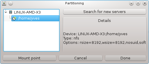 Access NFS shared drives and directories